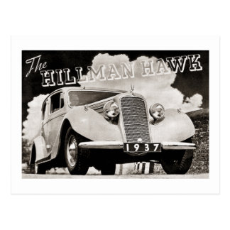 The Hillman Hawk 1937 Postcard
