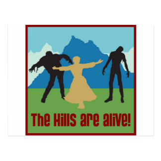 The Hills Are Alive! Postcard