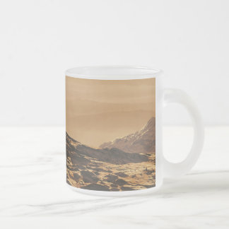 The Hills of Mars Frosted Glass Coffee Mug