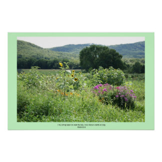The Hills of Strength Scripture Print