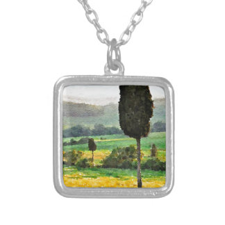 The Hills of Tuscany Silver Plated Necklace