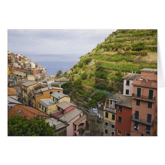 the hillside village of Manarola-Cinque Terre, Card