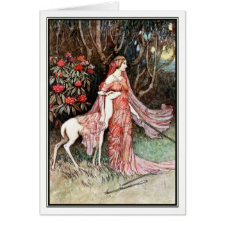 The Hind of the Forest by Warwick Goble Card