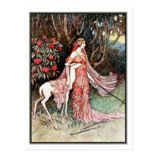 The Hind of the Forest by Warwick Goble Postcard