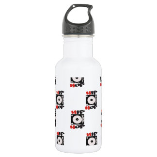 The HIP HOP Company Logo Pattern Stainless Steel Water Bottle