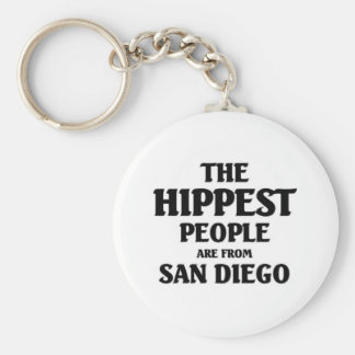 The hippest people are from San Diego Keychain