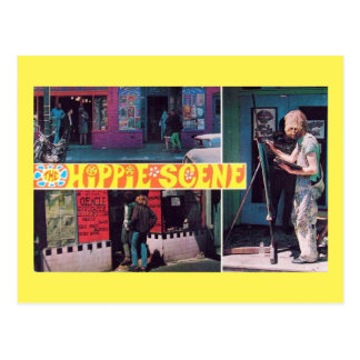The Hippie Scene Vintage Postcard