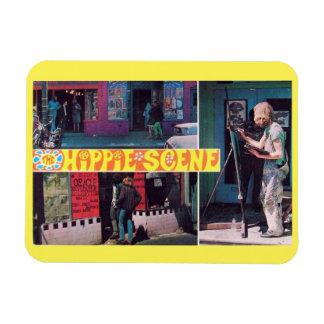 The Hippie Scene Vintage Rectangular Photo Magnet