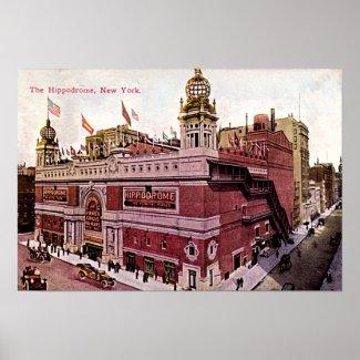 The Hippodrome Theatre, New York print