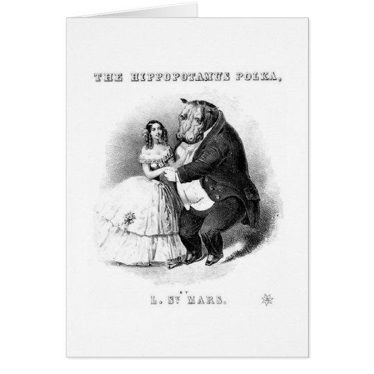 The Hippopotamus Polka Card