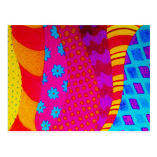 THE HIPSTER - Cool Colorful Vibrant Abstract Art Postcard