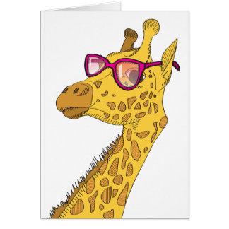 The Hipster Giraffe Greeting Card
