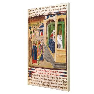 The 'Histoire du Grand Alexandre' Canvas Print