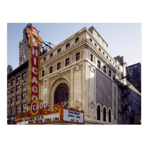 The  Historic Chicago Theater Postcard