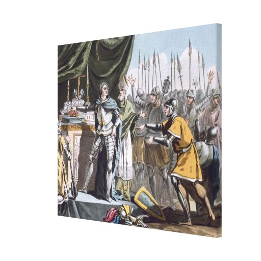 The Historic Day of Bouvines in 1214, engraved by Canvas Print