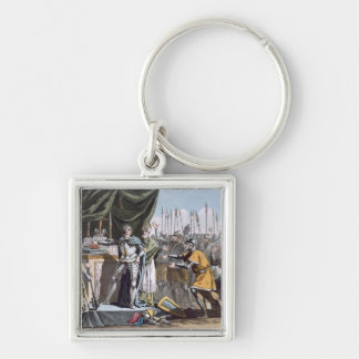 The Historic Day of Bouvines in 1214, engraved by Key Chains