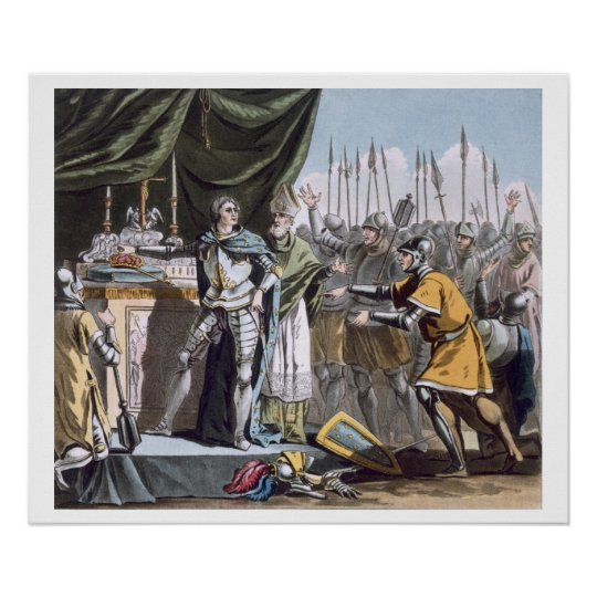 The Historic Day of Bouvines in 1214, engraved by Poster