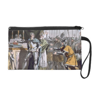 The Historic Day of Bouvines in 1214, engraved by Wristlet Purse