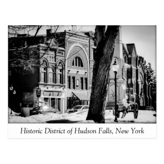 The Historic District of Hudson Falls Postcard