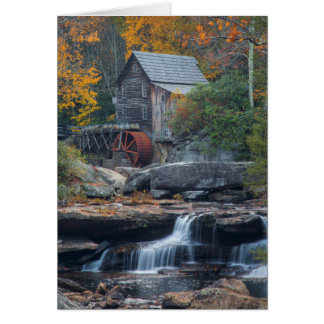The Historic Grist Mill On Glade Creek 2 Card