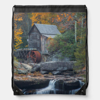 The Historic Grist Mill On Glade Creek 2 Drawstring Bag