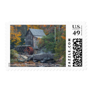 The Historic Grist Mill On Glade Creek 2 Postage Stamps