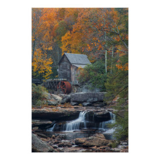 The Historic Grist Mill On Glade Creek 2 Poster