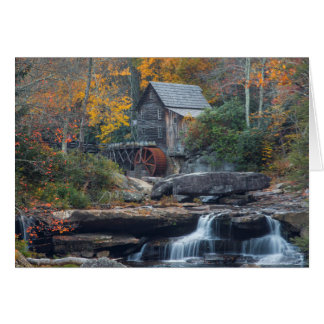 The Historic Grist Mill On Glade Creek Card