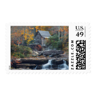 The Historic Grist Mill On Glade Creek Postage Stamp