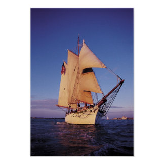 The historic Western Union Schooner, Key West Poster