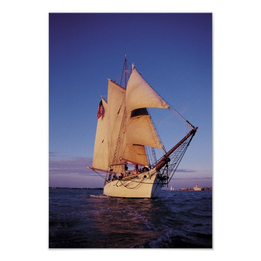 The historic Western Union Schooner, Key West Posters