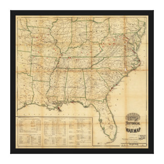 The Historical Civil War Map (1862) Canvas Print