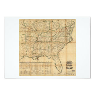 The Historical Civil War Map (1862) Card
