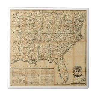 The Historical Civil War Map (1862) Ceramic Tile