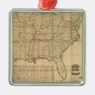 The Historical Civil War Map (1862) Metal Ornament