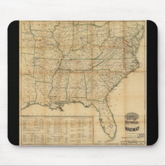 The Historical Civil War Map (1862) Mouse Pad