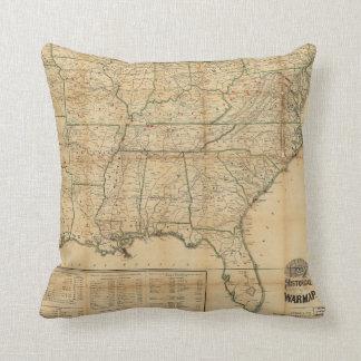 The Historical Civil War Map (1862) Pillow