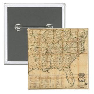 The Historical Civil War Map (1862) Pinback Button