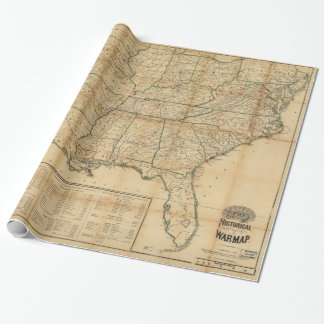 The Historical Civil War Map (1862) Wrapping Paper