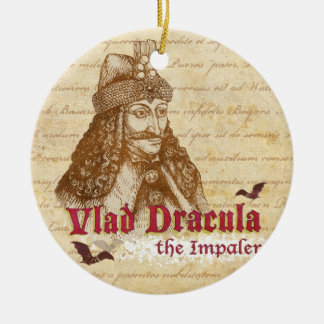 The historical Count Dracula Ceramic Ornament