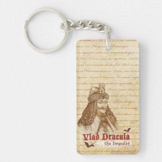 The historical Count Dracula Single-Sided Rectangular Acrylic Keychain