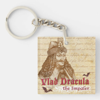The historical Count Dracula Double-Sided Square Acrylic Keychain