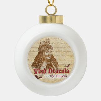 The historical Count Dracula Ceramic Ball Christmas Ornament