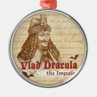 The historical Count Dracula Round Metal Christmas Ornament