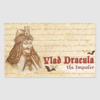 The historical Count Dracula Rectangular Sticker