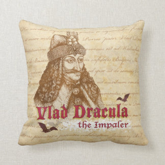 The historical Count Dracula Throw Pillow