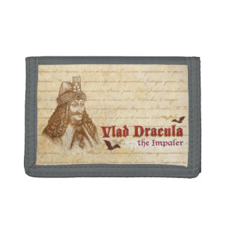 The historical Count Dracula Trifold Wallets