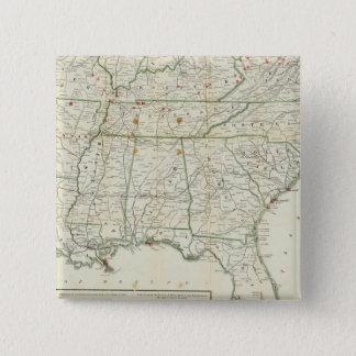 The Historical War Map Pinback Button