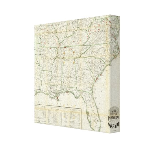 The Historical War Map Stretched Canvas Prints