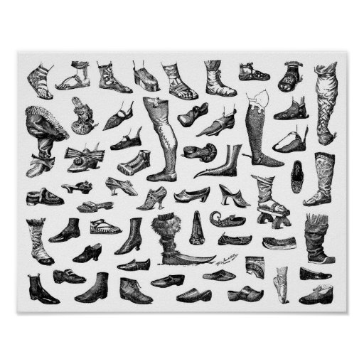 The History of Shoes Print